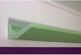 """Lichtvoute """"DBML-120-ST"""" für die indirekte LED Beleuchtung der Decke aus Hartschaum."""