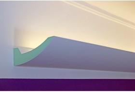 """Stuckleiste """"DBKL-125-PR"""" für die indirekte Deckenbeleuchtung aus Hartschaum."""