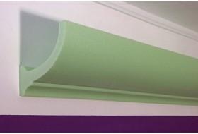 """Lichtvoutenprofil """"DBKL-100-ST für die indirekte Deckenbeleuchtung aus Hartschaum."""