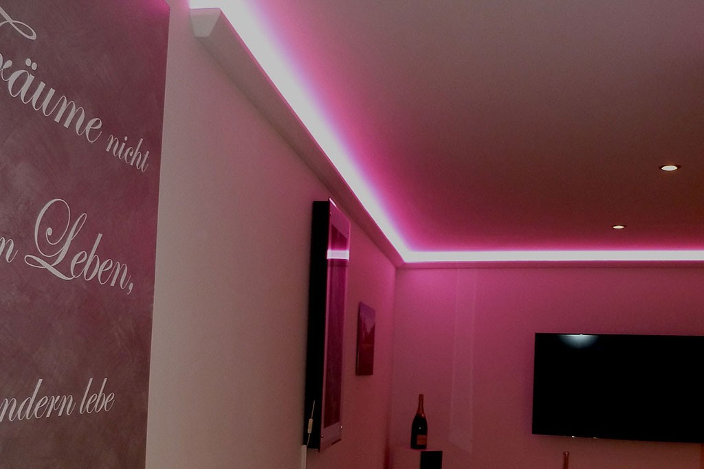 """LED Stuckleisten """"DBML-70-PR"""" Für Indirekte Beleuchtung"""