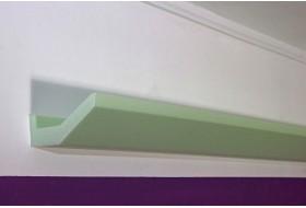 """Stuckleiste """"DBML-70-ST"""" für die indirekte LED Beleuchtung der Decke aus Hartschaum."""