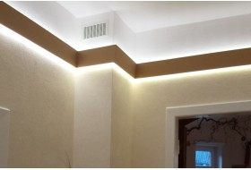 "LED Stuckprofil für indirekte Wandbeleuchtung ""WDML-65B-ST"""