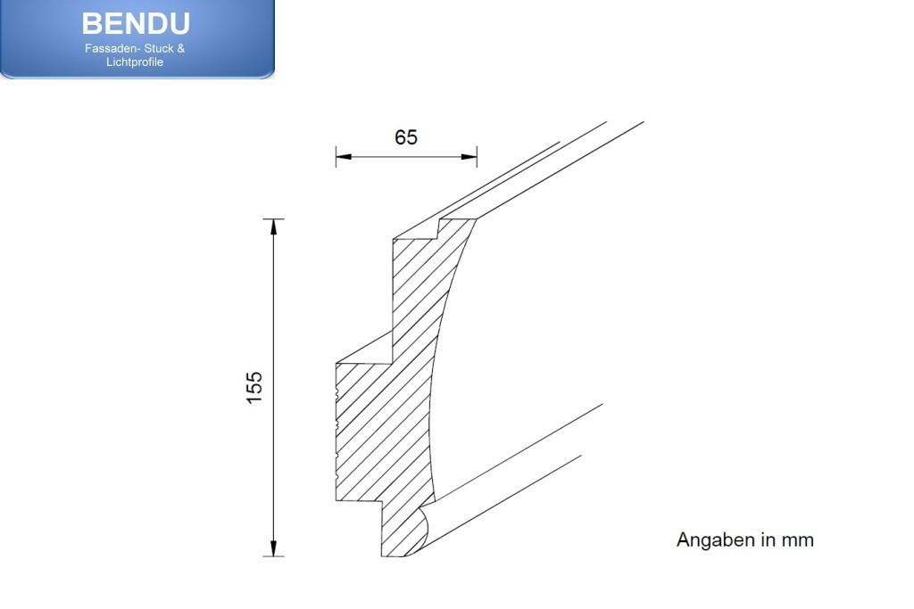 klassisches stuckprofil f r die beleuchtung wand und decke wdkl 65b st. Black Bedroom Furniture Sets. Home Design Ideas