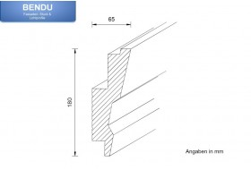 "LED Stuckprofil für indirekte Wandbeleuchtung ""WDML-65A-PR"""