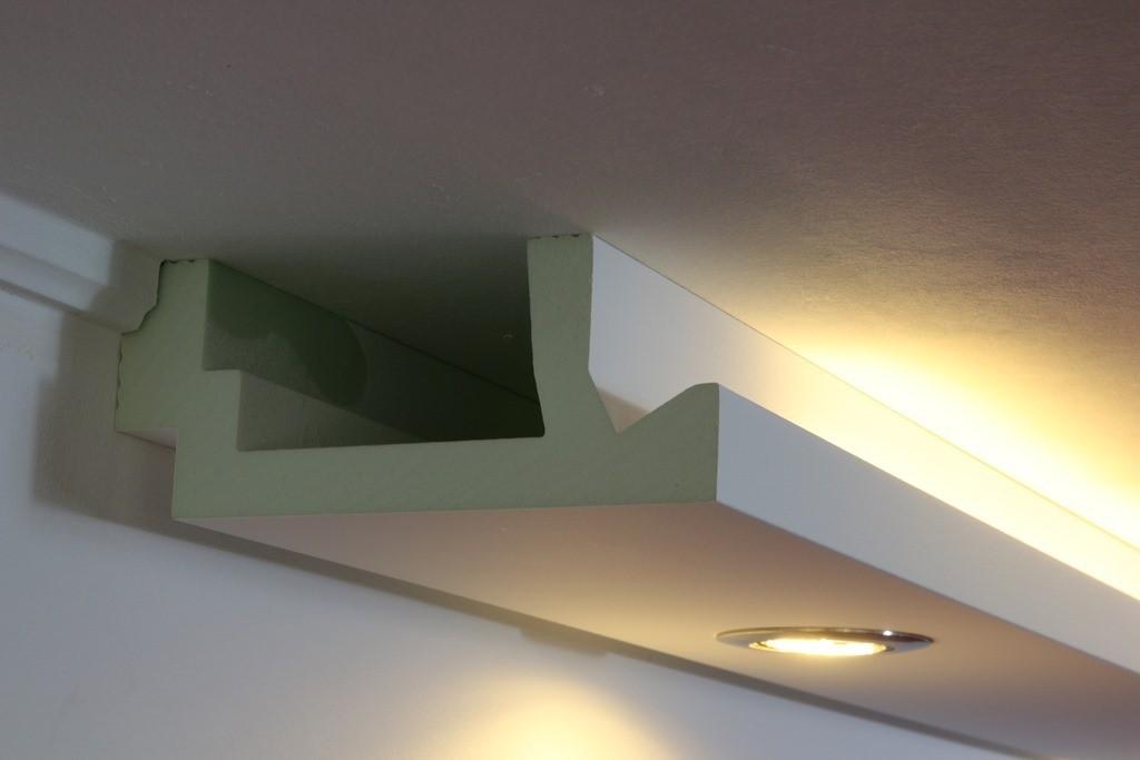 """Stuckleisten """"WDML-200A-PR"""" Für Indirekte Beleuchtung Wand"""
