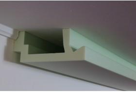 """Indirekte und direkte LED Beleuchtung von Wand und Decke mit der Stuckleiste """"WDML-200A-ST"""" aus Hartschaum"""