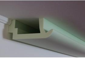 """Moderne LED Stuckleisten """"WDKL-200A-ST"""" aus Hartschaum für direktes und indirektes Licht an Wand und Decke."""