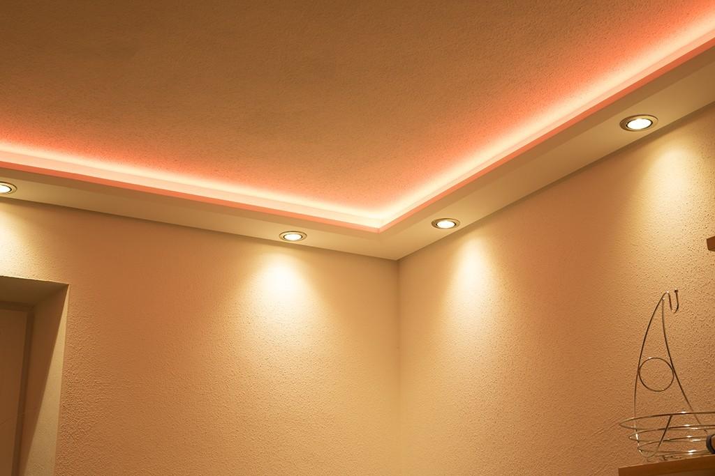 stuckprofil wdml 200b st f r indirekte beleuchtung wand decke bendu. Black Bedroom Furniture Sets. Home Design Ideas