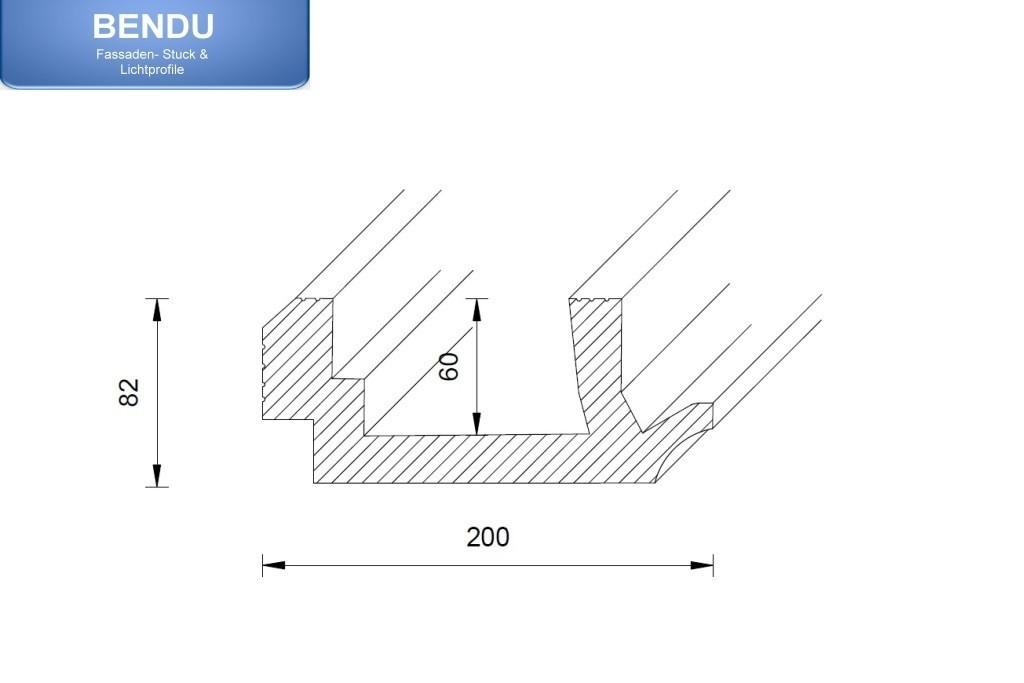 stuckprofil wdkl 200b st f r indirekte beleuchtung wand decke bendu. Black Bedroom Furniture Sets. Home Design Ideas