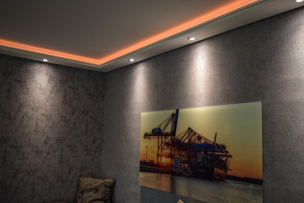 """LED Stuckleisten für indirekte Beleuchtung Wand und Decke """"WDML-200C-PR"""""""