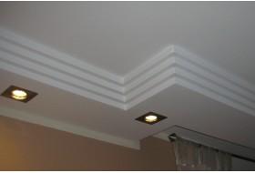 Modernes Lichtprofil BSML-290A-ST für die direkte Beleuchtung der Wand im Wohnzimmer mit LED Strahlern.