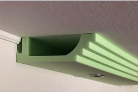 Modernes Stuck- und Lichtprofil BSML-290A-ST für die direkte Beleuchtung der Wand mit LED Strahlern bzw. Spots.