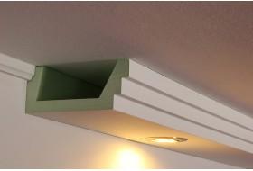 Lichtprofil BSML-180A-PR für die direkte Wandbeleuchtung mit LED Spots.