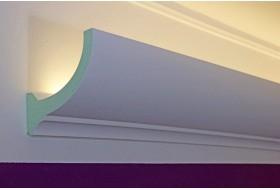 """Lichtvoutenprofil """"DBKL-100-PR"""" für die indirekte Deckenbeleuchtung aus Hartschaum."""