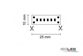 Linear LED Streifen warm-weiß mit 10,0 W/m bei 24 Volt, IP20