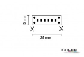 LED linear-strip warm white with 10.0 watts per meter at 24 volt, IP20