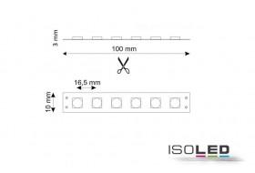LED Streifen warm-weiß mit 14,4 Watt je Meter bei 24 Volt, IP66