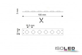 RGB HEQ LED strip with 14.4 watt per meter at 24 volt, IP66