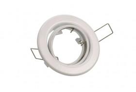 Runder LED Einbaurahmen schwenkbar für GU10 Strahler - Weiß