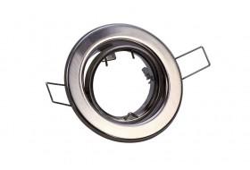 Runder Einbaurahmen schwenkbar für GU10 Spots - Eisen-gebürstet