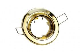 Runder Spotrahmen schwenkbar für GU10 Strahler - Messing / Gold