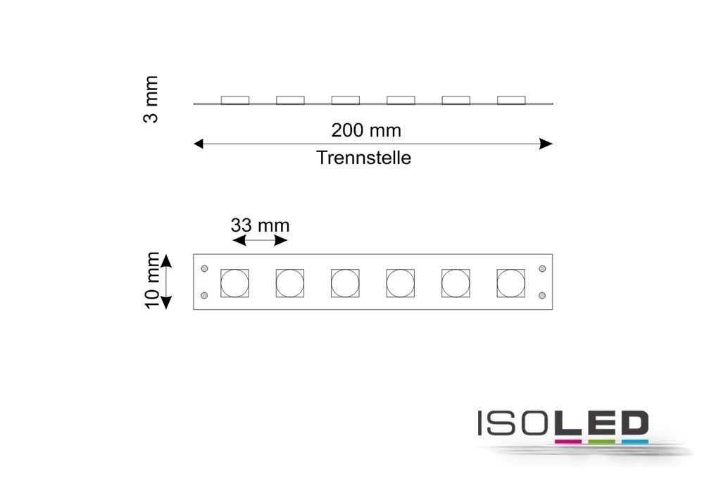 RGB LED Band mit 7,2 Watt je Meter bei 24 Volt, IP66-LED-7.2RGB-24V
