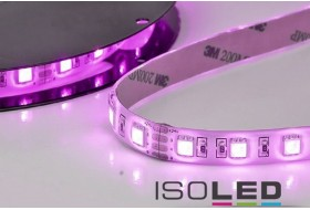 RGB HEQ LED strip with 14.4 watt per meter at 24 volt, IP66