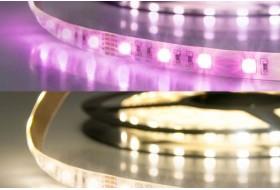 RGB+WW LED Band mit 19,0 Watt je Meter bei 24 Volt, IP20