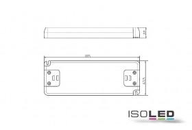 LED Trafo Ultraslim 0-50 Watt bei 24 Volt/DC