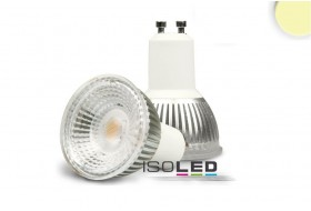 LED spotlight warm-white with 6.0 watts for GU10 socket dimmable