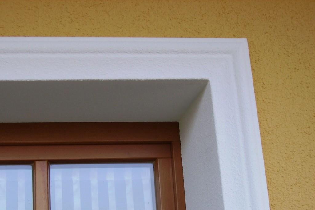 1,70m Fensterfaschen Fensterumrahmungen Fassadenprofile Gestaltung Außenfassade