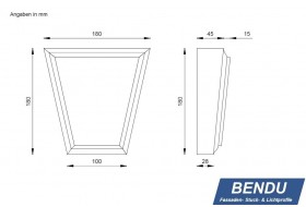 "Cap stones for window surrounds ""SSTKL-180A-PR"""