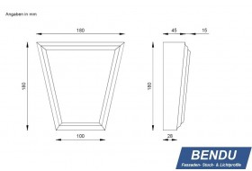 "Cap stones for window surrounds ""SSTKL-180B-PR"""