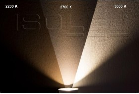 Dimm-to-warm LED Strahler mit Farbspektrum von 2.200 bis 3.000 Kelvin