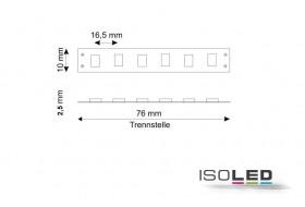 LED Streifen warm-weiß mit 4,8 Watt je Meter bei 24 Volt, IP20