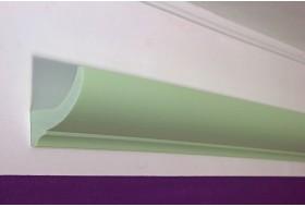 """Klassische Lichtvoute """"DBKL-75-ST"""" für die indirekte Deckenbeleuchtung aus Hartschaum."""