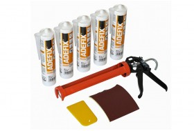 Mounting kit for stucco incl. 5x ADEFIX