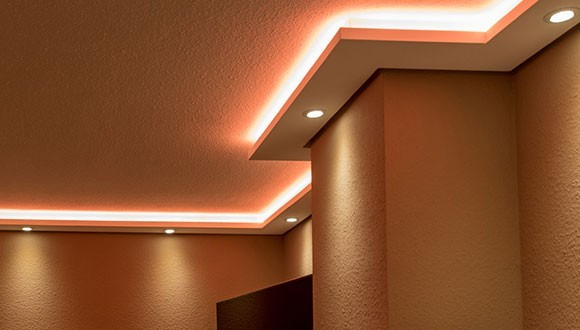Indirect Lighting Wall and Ceiling