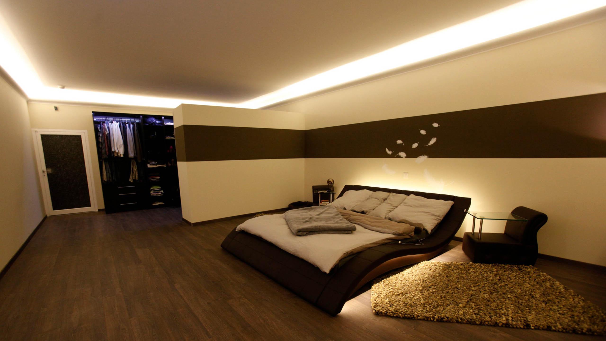 Lichtvoutenprofile für die indirekte Beleuchtung der Decke