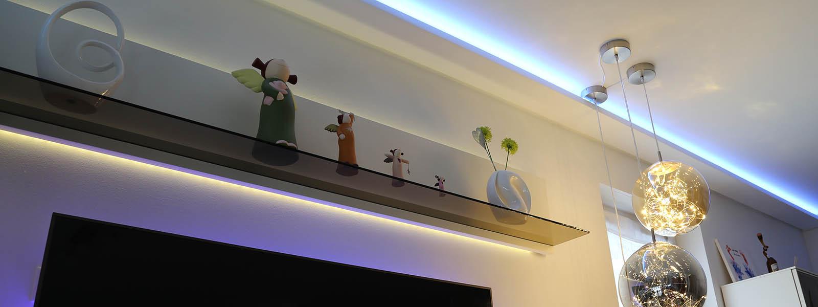LED Streifen bzw. Flexbänder für eine moderne und stilvolle indirekte Beleuchtung