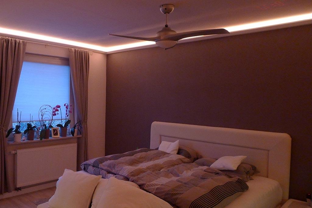Indirekte Beleuchtung im Schlafzimmer - schöne Ideen | BENDU