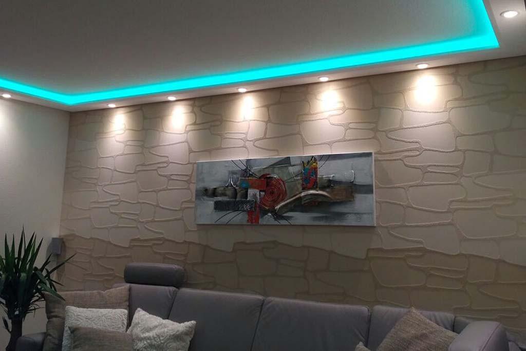 Direkte und indirekte Beleuchtung von Wand / Decke ...