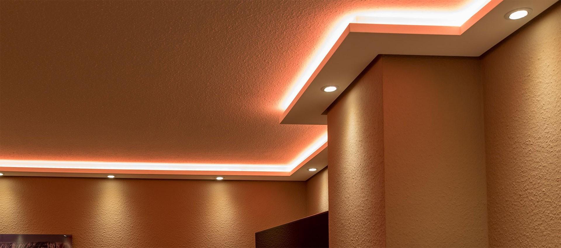 Indirekte Beleuchtung Led Dimmbar | Indirekte Beleuchtung Led Stuckleisten Und Fassadengestaltung
